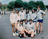 Rounders Team Back Row - L/R Maxine Garrick, Ruth Perkins, Lynn Howard, Corrine don Carolis, Margaret Franklin, Sandra Ryall. Front Row L/R - Pat Kirby, Christine Hull, Linda Smith