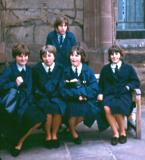 Smith's Chapel Coventry Cathedral. L/R Jean McQueen, Lynn Howard, Christeen Steeden, Joyce Scarlett, Susan Siveyer