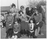 1961: top row l/r Susan Miles, Margeret Doe, Susan Young mid row: Maureen White, Pauline Fordyce, Sally Bristow, front: Christine West, Valerie Ambrose